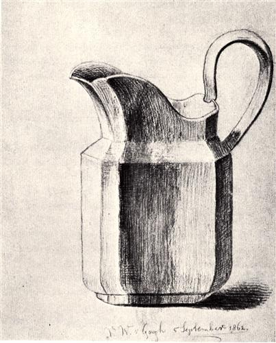 Vincent van Gogh, Milk Jug, 1862, graphite on paper