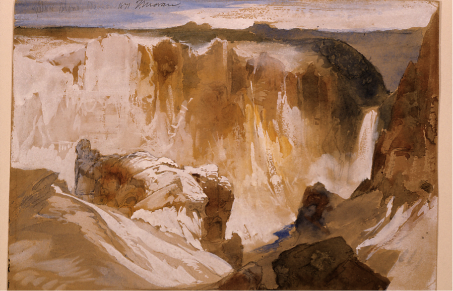 Thomas Moran, Yellowstone Canyon, 1871, watercolor on paper