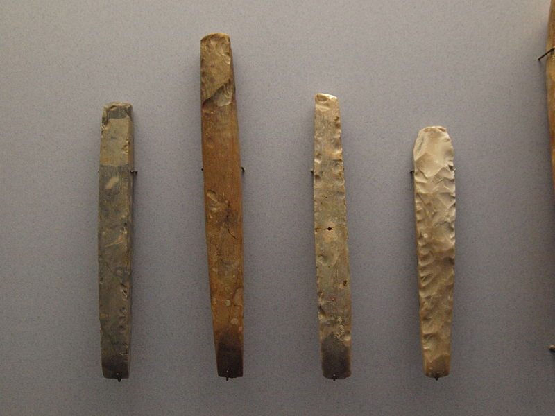 Neolithic stone chisels, 4100-2700 BCE. Photo by Bullenwächter.
