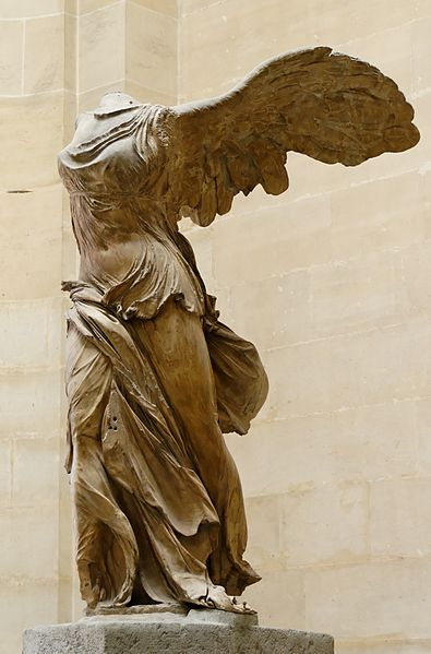 Winged Nike of Samothrace, Parian marble, ca. 190 BCE. Louvre Museum, Paris