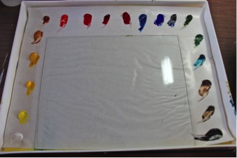 palette set up glass