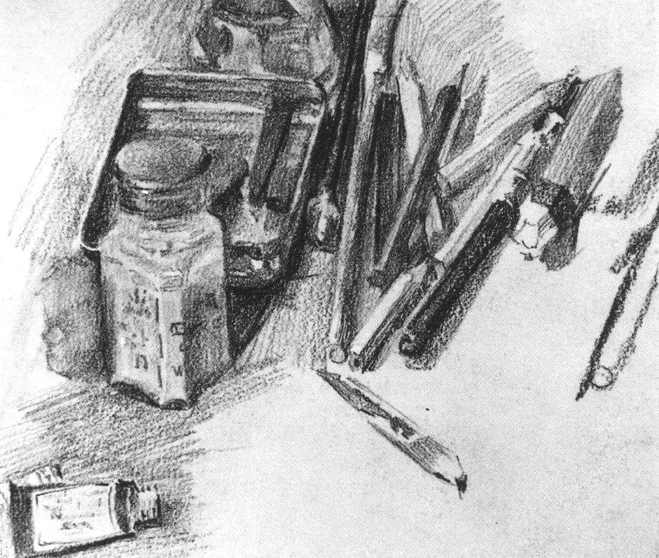 Mikhail Vrubel, Pencils, 1905, graphite on paper