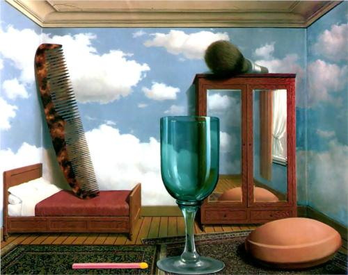 Rene Magritte, Personal Values, 1952, oil on canvas