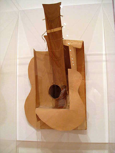 Pablo Picasso, Guitar, 1914, ferrous sheet metal and wire, © 2015 Estate of Pablo Picasso / Artists Rights Society (ARS), New York . Photo by Nika Vee via Flickr https://www.flickr.com/photos/nika/2916465587