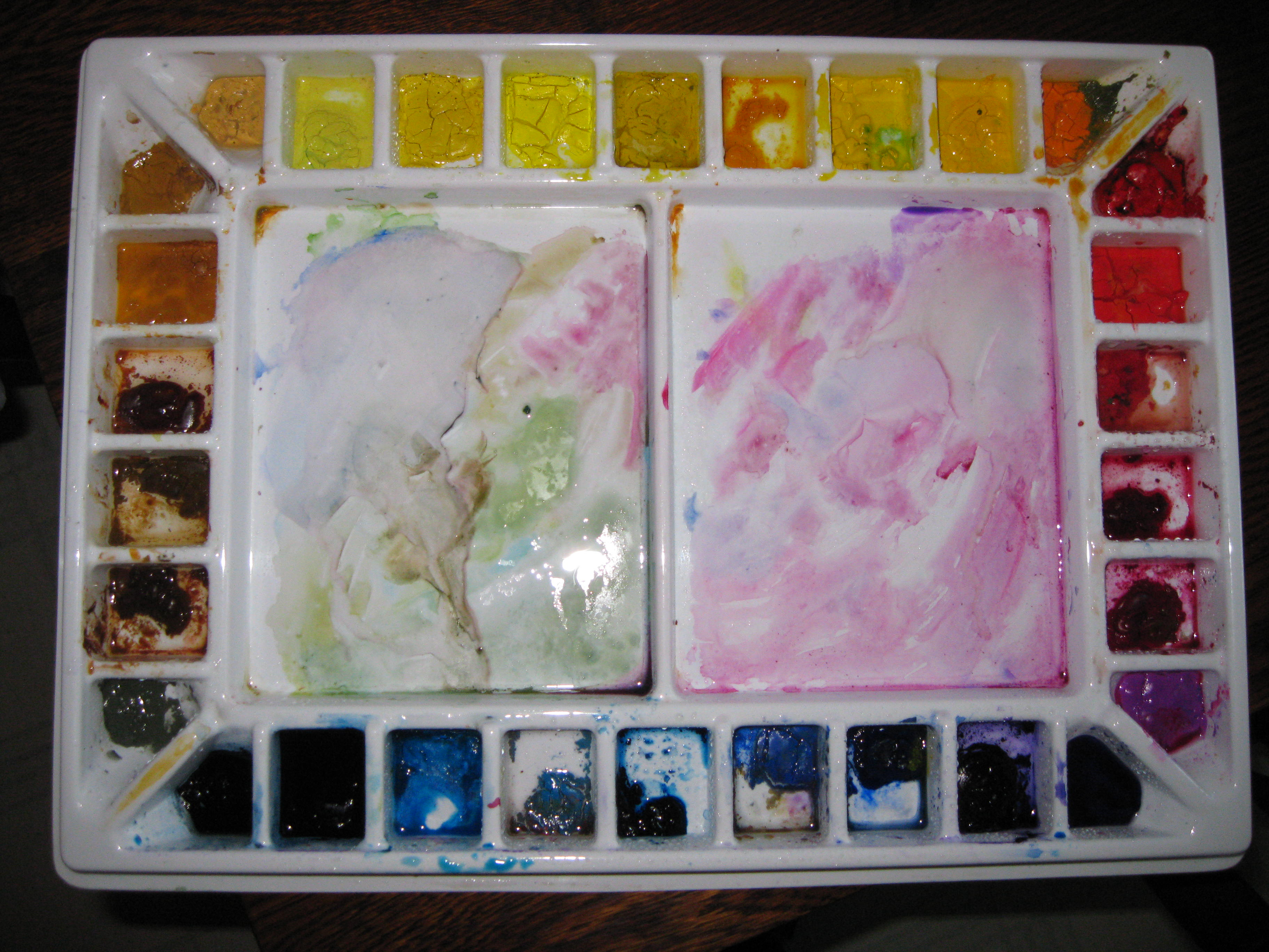 11 Wells Drawing Tray Art Palette Painting Watercolour Palette Mixing Container*