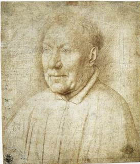 Jan van Eyck, Portrait of an Unknown Man, ca. 1435-40, silverpoint on prepared paper