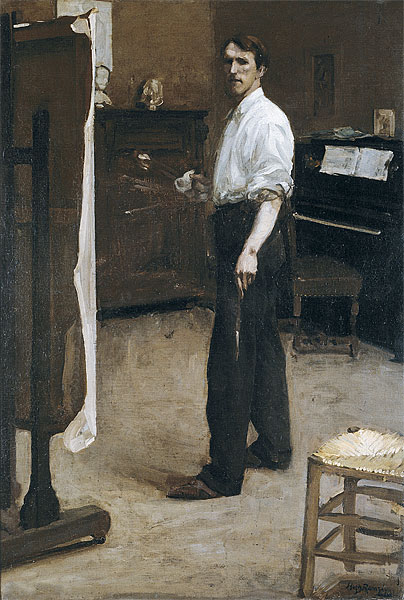 Hugh Ramsay, Portrait of the Artist Standing Before Easel, c. 1900, oil on canvas