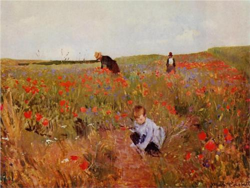 Mary Cassatt, Red Poppies, c. 1880, oil on canvas