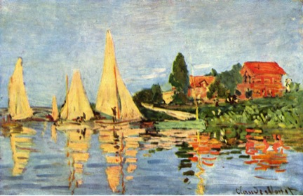 Claude Monet, Regatta at Argenteuil, 1872, oil on canvas