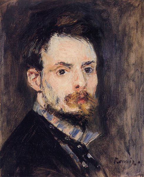 Auguste Renoir, Self Portrait, 1875, oil on canvas