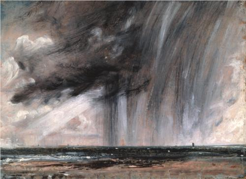 John Constable, Seascape Study with Raincloud, c. 1827