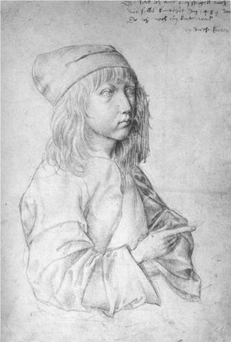 Albrecht Durer, Self-Portrait at 13, pencil on paper, 1484