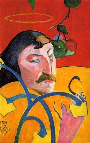 Paul Gauguin, Self Portrait with Halo, 1889, oil on wood