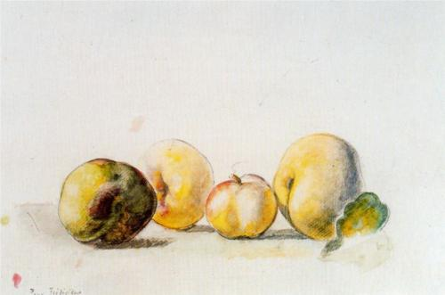 Balthus, Still Life (quince and pear), 1956, watercolor on paper