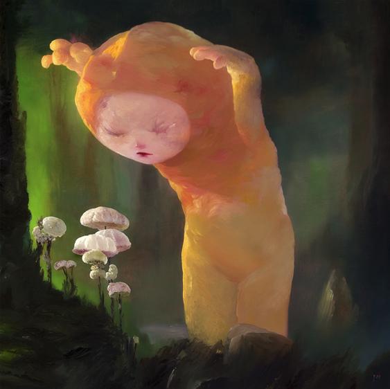 "Joe Sorren, The Mushroom Hunter, oil on canvas, 24"" x 24"""