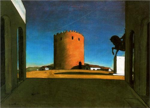 Giorgio de Chirico, The Red Tower, 1913, oil on canvas