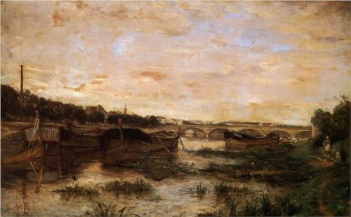 Berthe Morisot, The Seine Below the Pont d'Lena, 1866, oil on canvas