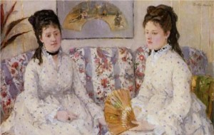 Berthe Morisot, Two Sisters on a Couch, 1869, oil on canvas