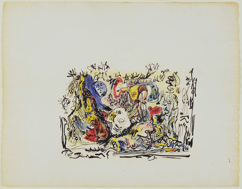 Jackson Pollock, Untitled, c. 1945, colored pencils, crayon, ink, and watercolor on paper