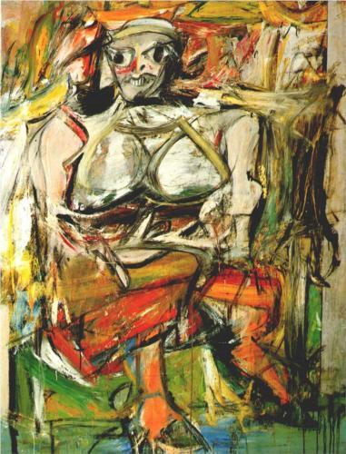 Willem de Kooning, Woman I, 1952, oil on canvas