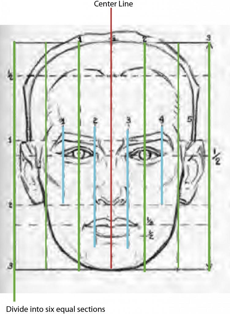 MaleHead-VerticalLines-1