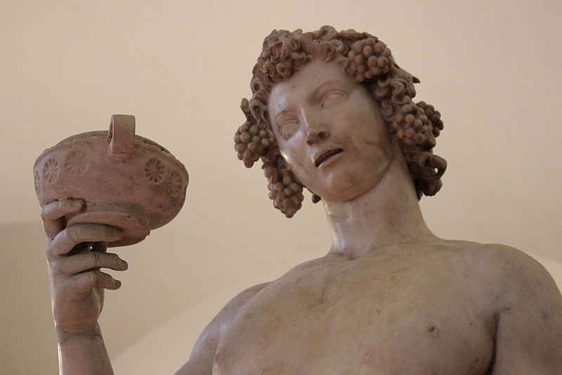 Michelangelo, Bacchus (detail), 1496-1497, marble. By Miguel Hermoso Cuesta (Own work) [CC BY-SA 4.0 (http://creativecommons.org/licenses/by-sa/4.0)], via Wikimedia Commons