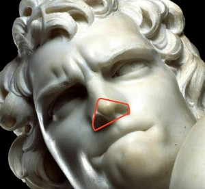 bernini david-triangle nose from below