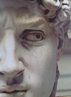 michelangelo david close up eye