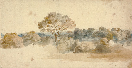 Anthony van Dyck, Landscape, c. 1632, watercolor on paper