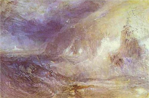 J.M.W. Turner, Longship Lighthouse, Lands End, 1834-35, watercolor on paper