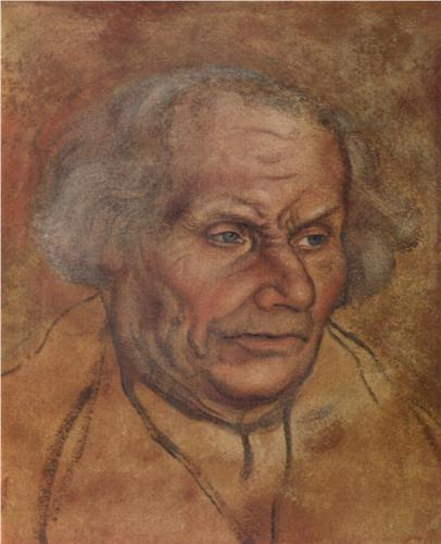 Lucas Cranach the Elder, Portrait of Luther's Father, 1527, watercolor on paper