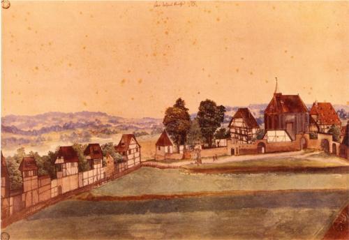 Albrecht Durer, Saint John's Church, 1489, watercolor on paper