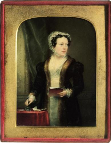 Christina Robertson, Self-Portrait, c. 1822, watercolor on ivory