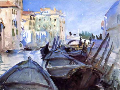 John Singer Sargent, Venetian Canal Scene, watercolor on paper