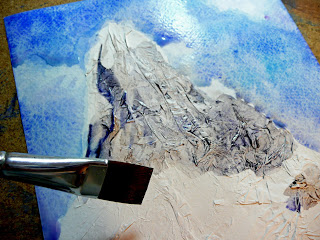 texture mountain paper