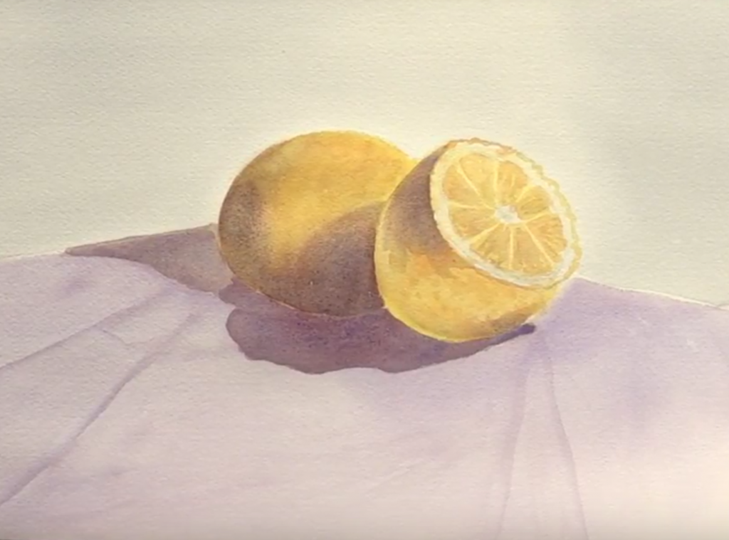 Finished WC lemon painting