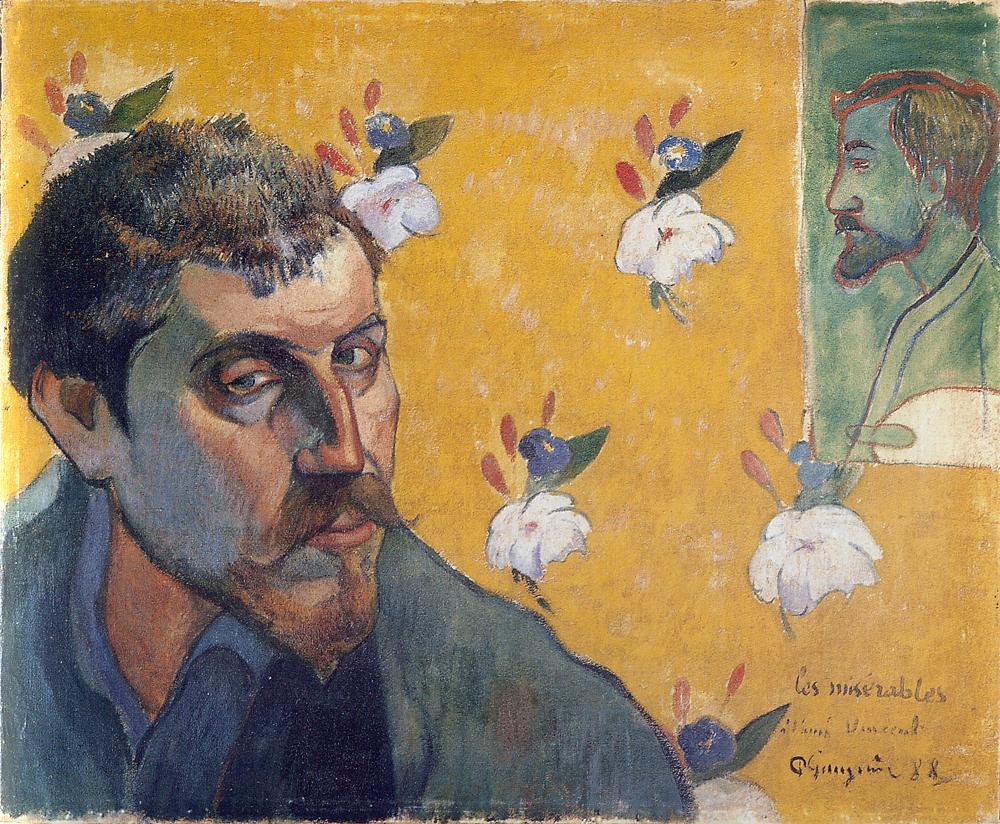 Paul Gauguin, Self Portrait (Les Miserables), 1888, oil on canvas