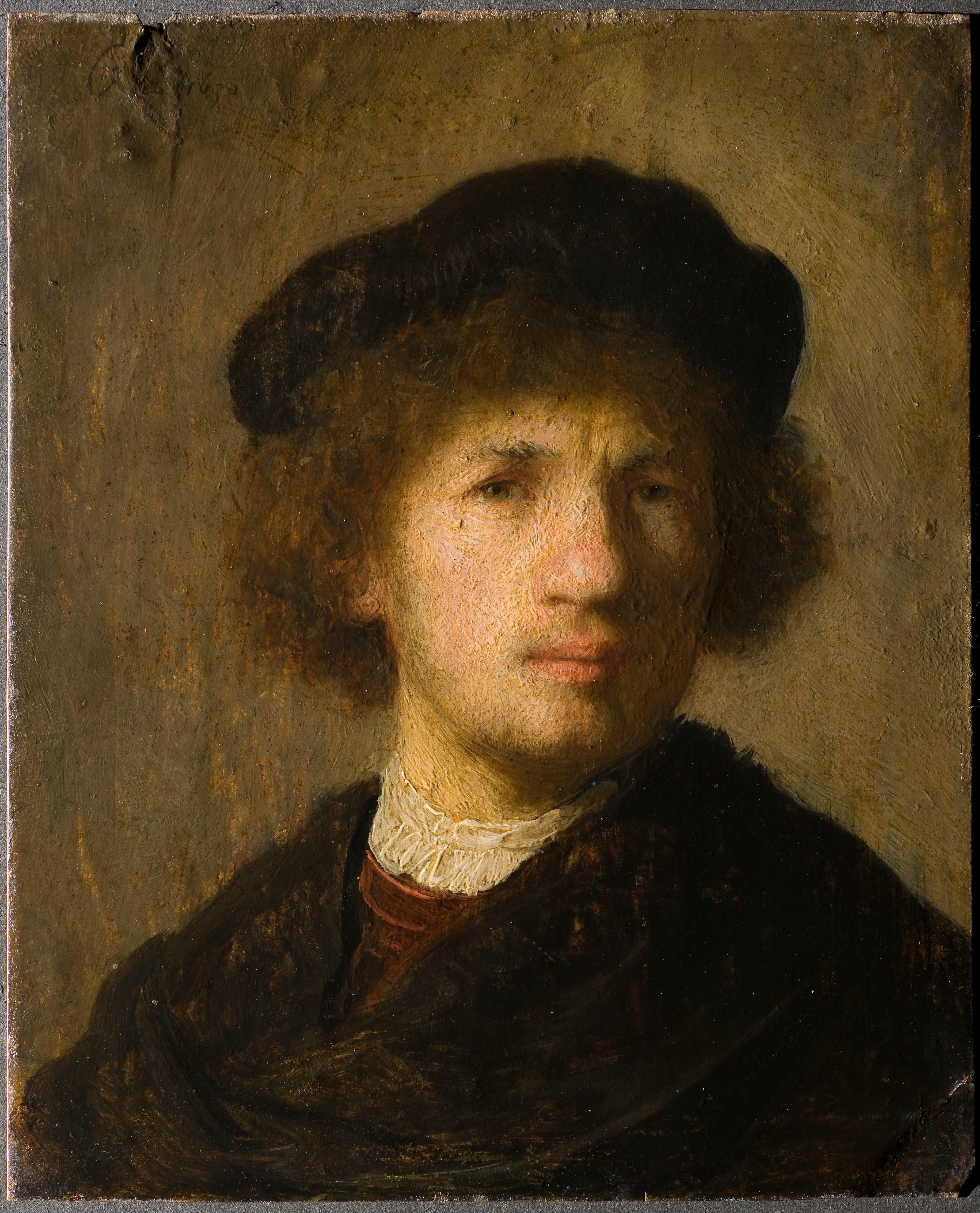 Self Portrait, Rembrandt, 1630, oil on copper