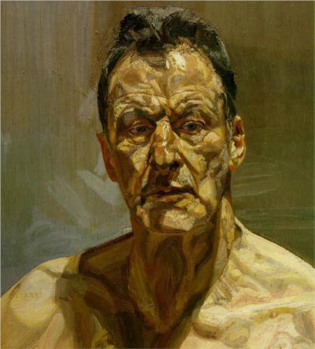 Lucian Freud, Reflection (Self-Portrait), 1985, oil on canvas