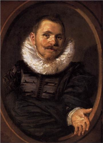 Frans Hals, Portrait of a Man, 1627, oil on canvas