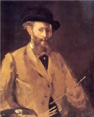 Edouard Manet, Self Portrait with Palette, 1879, oil on canvas