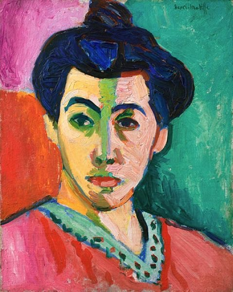 Henri Matisse, Portrait of Madame Matisse, 1906, oil on canvas