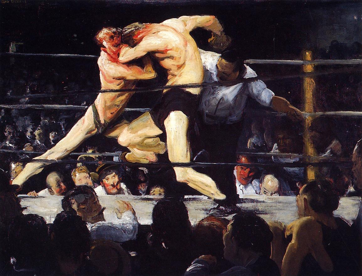 George Bellows, Stag Night at Sharkey's, 1909, oil on canvas
