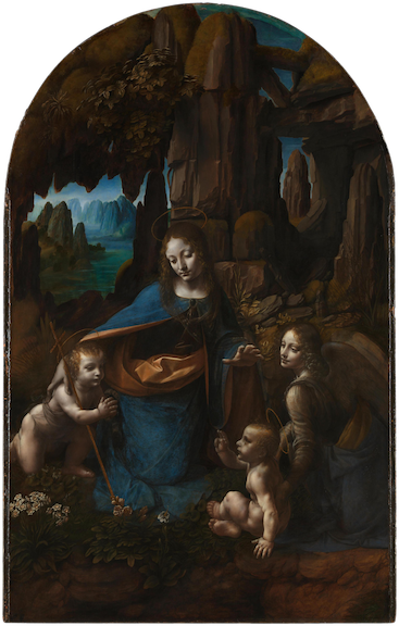 Leonardo da Vinci, Virgin of the Rocks, 1483-1486, oil on panel