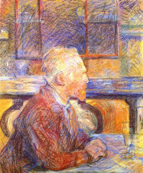 Henri de Toulouse-Lautrec, Portrait of Vincent van Gogh, 1887, pastel on cardboard
