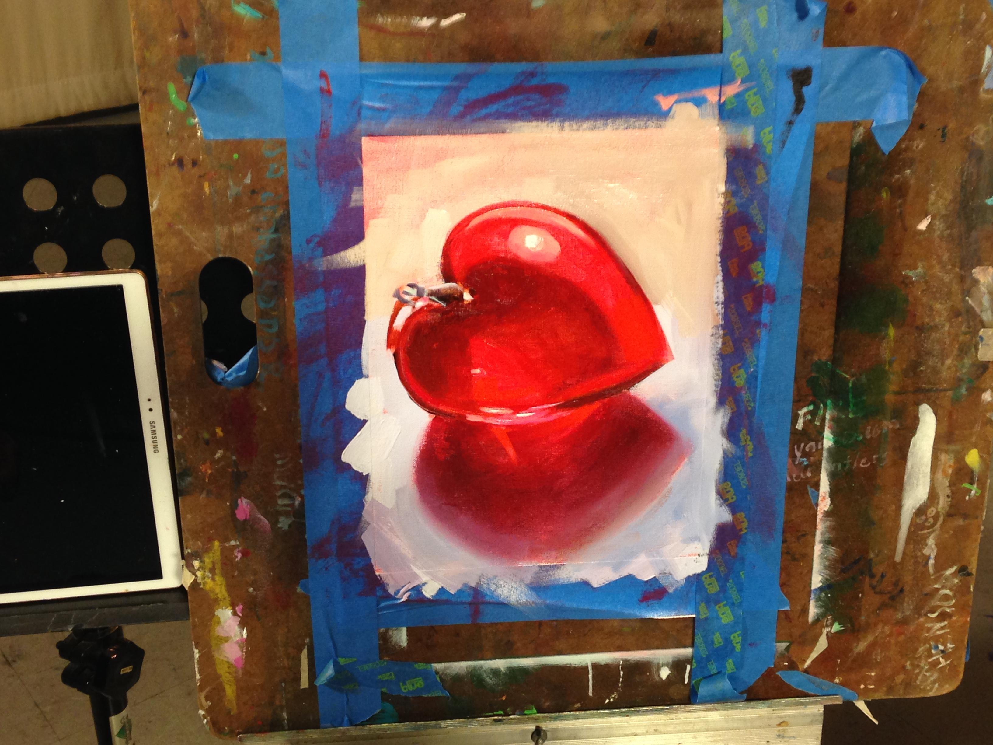 oil painting exercise one glass heart beginner s school